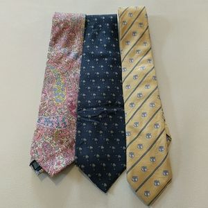 Bundle 3 silk ties Southern Tide, South Carolina